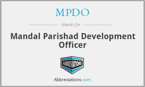 MPDO - Mandal Parishad Development Officer