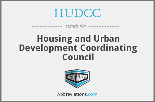 What does HUDCC stand for?