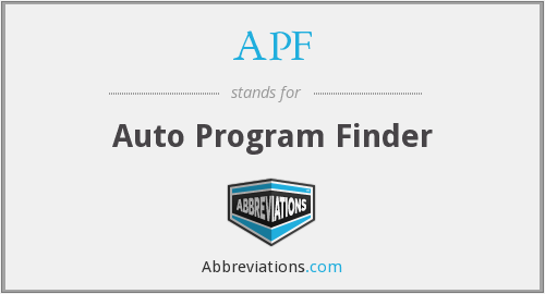 APF - Auto Program Finder