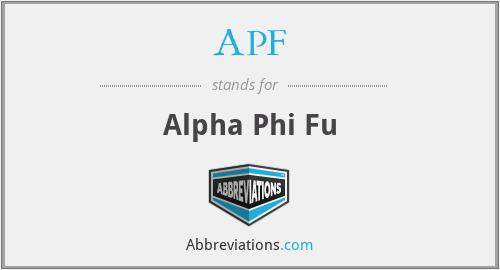 APF - Alpha Phi Fu