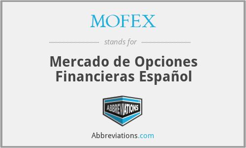MOFEX - Mercado de Opciones Financieras Español