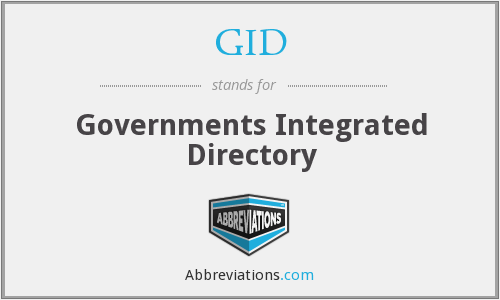 GID - Governments Integrated Directory
