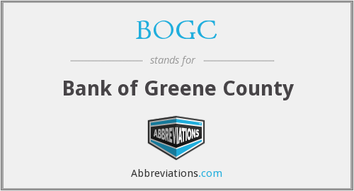 BOGC - Bank of Greene County