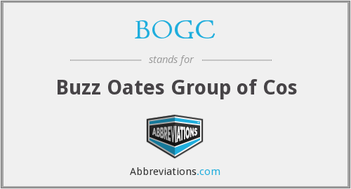 BOGC - Buzz Oates Group of Cos