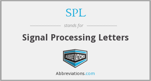 SPL - Signal Processing Letters