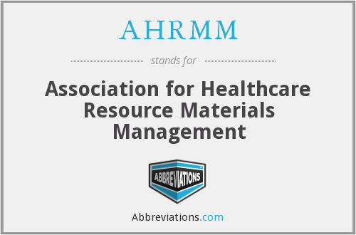 What does AHRMM stand for?