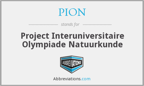 PION - Project Interuniversitaire Olympiade Natuurkunde