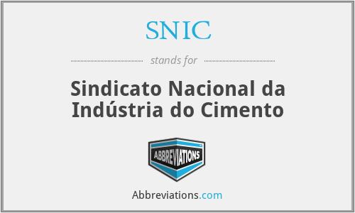 SNIC - Sindicato Nacional da Indústria do Cimento