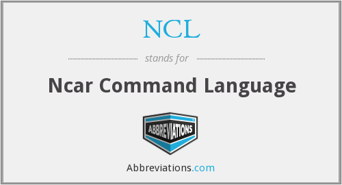 NCL - Ncar Command Language