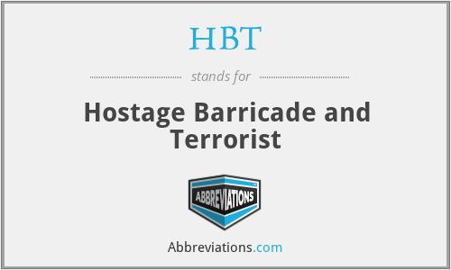 HBT - Hostage Barricade and Terrorist