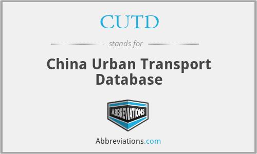 CUTD - China Urban Transport Database