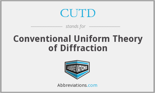 CUTD - conventional uniform theory of diffraction