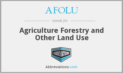 What does AFOLU stand for?