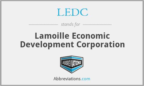 LEDC - Lamoille Economic Development Corporation
