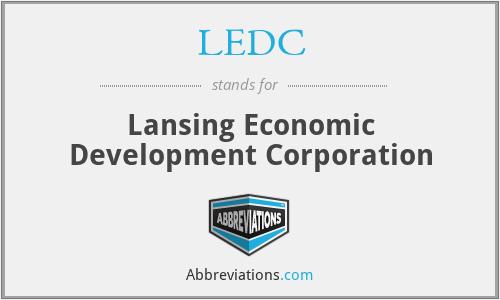 LEDC - Lansing Economic Development Corporation