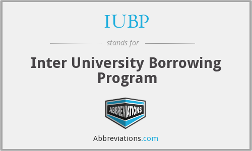 What does IUBP stand for?