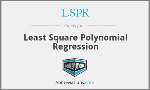 LSPR - Least Square Polynomial Regression