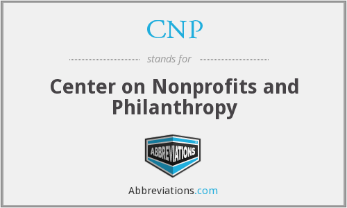 CNP - Center on Nonprofits and Philanthropy