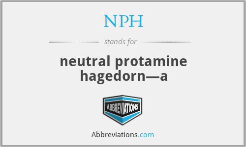 NPH - neutral protamine hagedorn—a