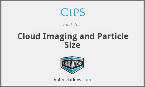CIPS - Cloud Imaging and Particle Size