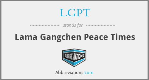 LGPT - Lama Gangchen Peace Times