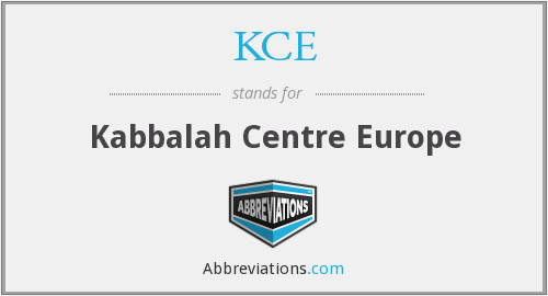 KCE - Kabbalah Centre Europe