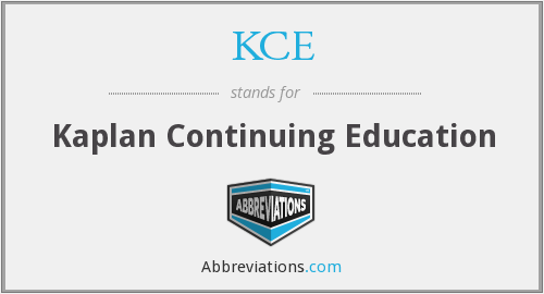 KCE - Kaplan Continuing Education