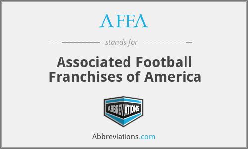 AFFA - Associated Football Franchises of America