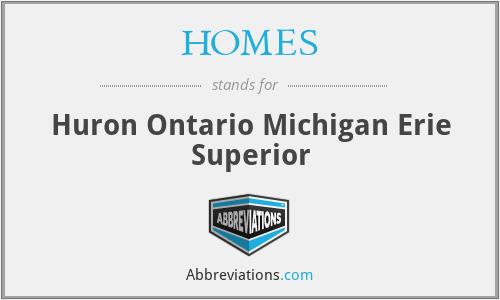 HOMES - Huron Ontario Michigan Erie Superior