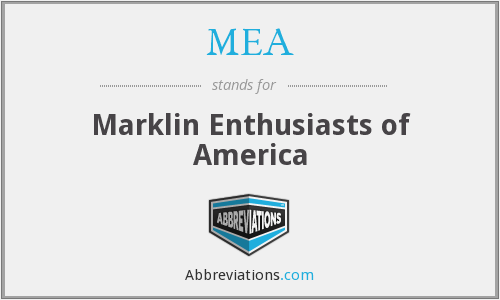 MEA - Marklin Enthusiasts of America