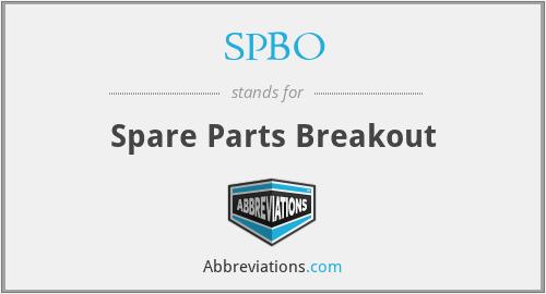 Spbo Spare Parts Breakout