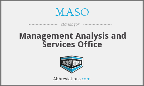 What does MASO stand for?