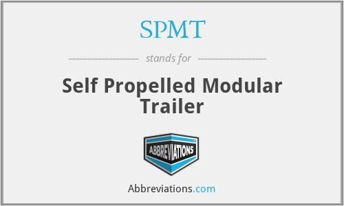 SPMT - Self Propelled Modular Trailer