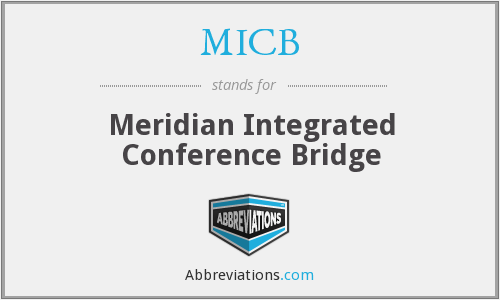 MICB - Meridian Integrated Conference Bridge