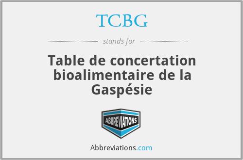 TCBG - Table de concertation bioalimentaire de la Gaspésie
