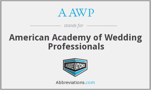 AAWP - American Academy of Wedding Professionals