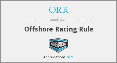 ORR - Offshore Racing Rule