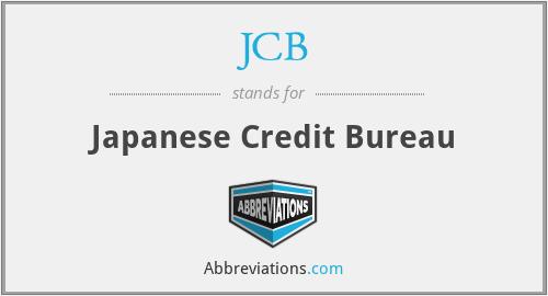 JCB - Japanese Credit Bureau