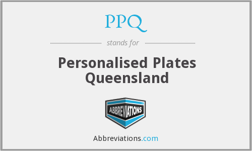 PPQ - Personalised Plates Queensland