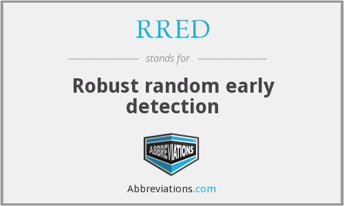 RRED - Robust random early detection