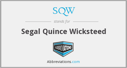 SQW - Segal Quince Wicksteed