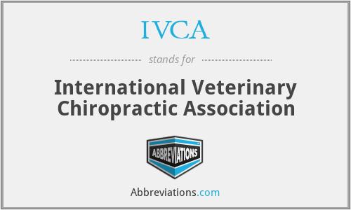 IVCA - International Veterinary Chiropractic Association
