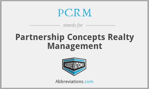 PCRM - Partnership Concepts Realty Management