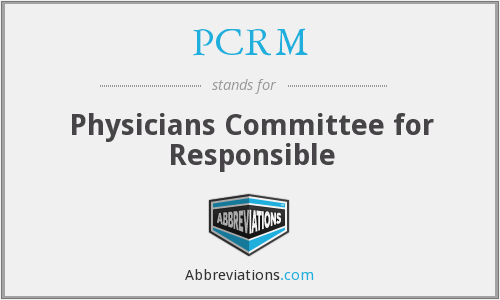 What does PCRM stand for?