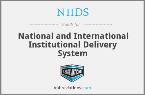 What does NIIDS stand for?