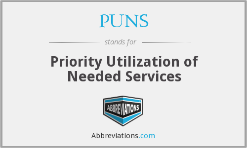 PUNS - Priority Utilization of Needed Services