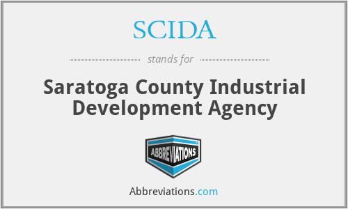 SCIDA - Saratoga County Industrial Development Agency