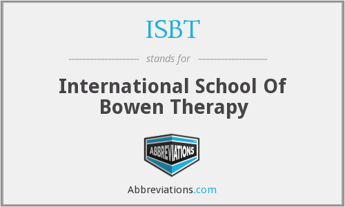 ISBT - International School Of Bowen Therapy