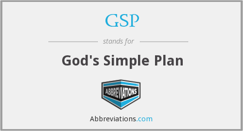 GSP - God's Simple Plan