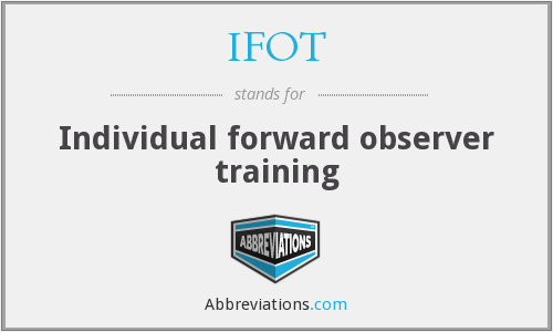 IFOT - Individual forward observer training